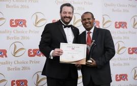 ORDA awarded globally the ESQR's Quality Choice Prize 2016!